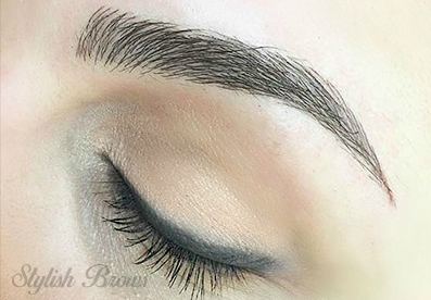 eyebrow tinting stylish brows
