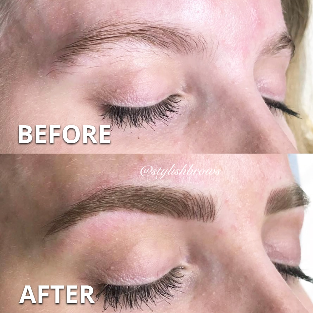 microblading eyebrow before after weston